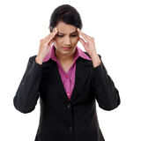 Stressful business woman Royalty Free Stock Image