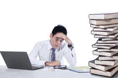 Stressful businessman isolated Stock Photo
