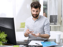 Stressful businessman Royalty Free Stock Photography