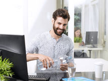 Stressful businessman Royalty Free Stock Image