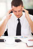 Stressful businessman work Stock Photo