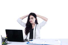 Stressful Businesswoman Stock Image