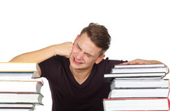 Stressful college life Stock Photography