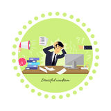 Stressful Condition Icon Flat Isolated Royalty Free Stock Photos