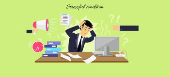 Stressful Condition Icon Flat Isolated Stock Image