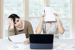 Stressful couple get many bill 1 Stock Photo