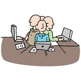 Stressful crowded workplace environment Stock Photo