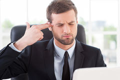 Stressful day. Royalty Free Stock Photos