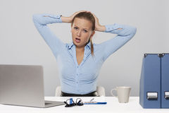 Stressful day Royalty Free Stock Photography