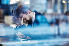 Stressful day Royalty Free Stock Image