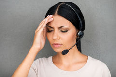Stressful day at work. Stock Photo