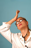 Stressful Female Doctor Stock Images