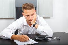 Stressful health care job Stock Image