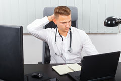Stressful health care job Royalty Free Stock Images