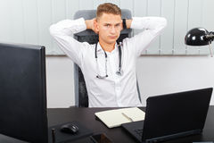 Stressful health care job Royalty Free Stock Photography