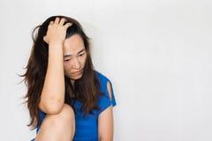 Stressful and hopeless woman Stock Photo