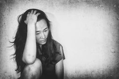 Stressful and hopeless woman Royalty Free Stock Images