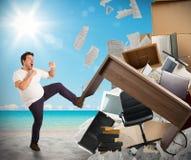Stressful job need holidays Stock Photography