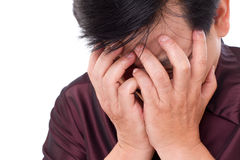 Stressful man making face palm gesture Royalty Free Stock Image