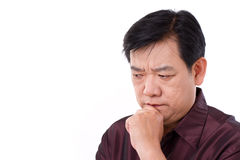 Stressful man thinking Royalty Free Stock Image