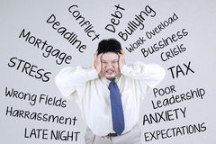 Stressful an obesity businessman 1 Royalty Free Stock Image