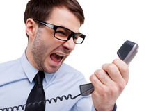 Stressful office life Stock Images