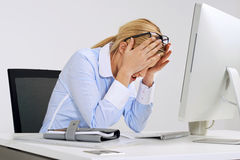 Stressful online job Stock Photo