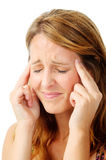 Stressful pain headache Stock Image