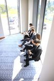 Stressful people waiting for the job interview. Stressful people waiting for the job interview Royalty Free Stock Images
