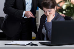 Stressful situation at work Stock Photos