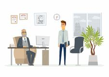 Stressful situation at work - modern cartoon people characters illustration Royalty Free Stock Images