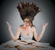 Stressful study books Stock Photos