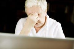Stressful work stock photos