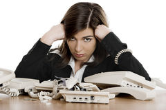 Stressful work Royalty Free Stock Image