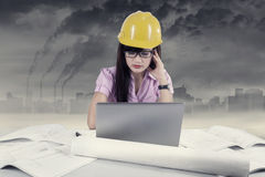 Stressful young architect Stock Images