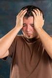 stressheadache Arkivbilder