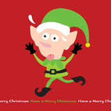 Stressing Elf. Illustration of a stressed out elf Royalty Free Stock Photography