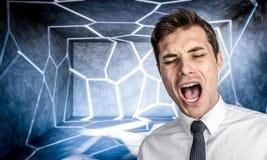 Stresssed-Mannporträt Lizenzfreies Stockbild