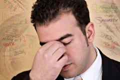 Stressvolle ökonomische Zeiten stockbild