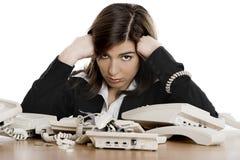 Stressvolle Arbeit Lizenzfreies Stockbild