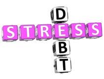 Stresu długu Crossword ilustracja wektor