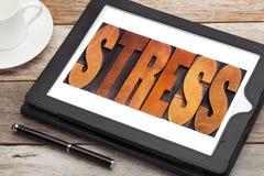 Stresu słowo w drewnianym typ Fotografia Royalty Free