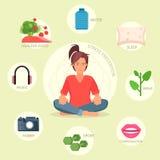 Stresu zapobiegania wektor infographic Zdjęcie Royalty Free