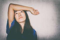 stresująca i beznadziejna kobieta fotografia stock