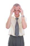 stresujący się biznesowy mężczyzna Zdjęcie Royalty Free