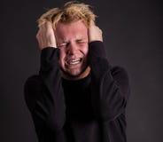 Stresujący się out męski nastolatek Zdjęcia Royalty Free