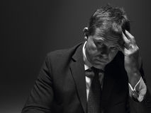 stresujący się biznesmena portret Fotografia Stock