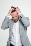 stresujący się biznesmena portret Obraz Stock