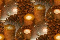 streszczenie brzozy korowata candle obraz stock