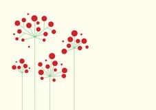 streszczenie czerwone kwiaty Zdjęcia Stock